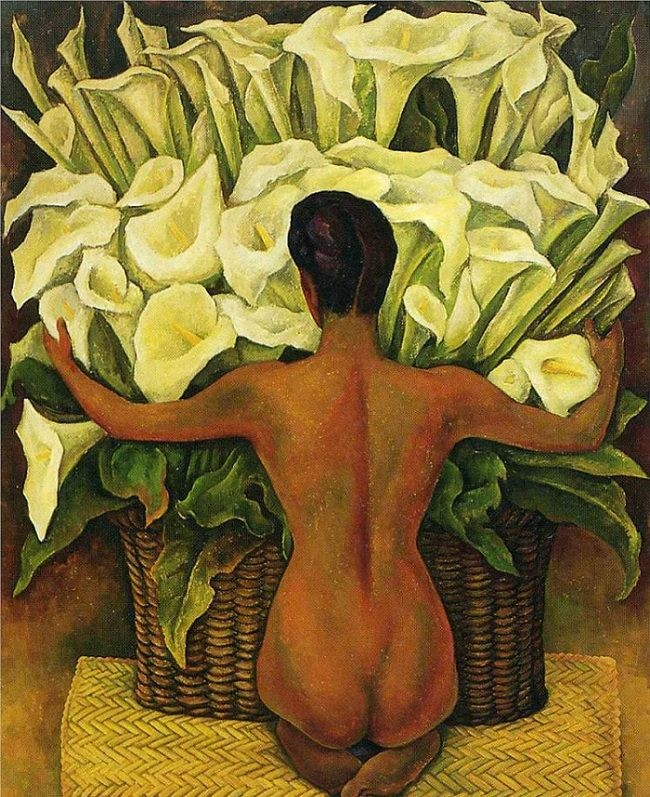 Nude with  calla Lillies, 1944 Diego Rivera